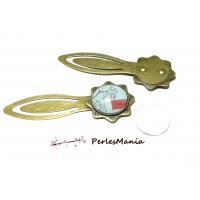 2 pièces: 1 MARQUE PAGE ARTY 20 mm Bronze H333811 et 1 cabochon
