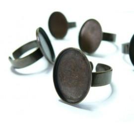 1 piece bronze oval bague 13 par18