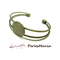 4 support de bracelet 20mm PLATEAU LISSE BRONZE