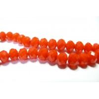 10 perles de cristal facetté orange 5 par 7mm