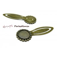 1 SUPPORT MARQUE PAGE ARTY 18 mm Bronze H3307 pour cabochon, DIY
