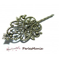 2 Supports de barrette Majestueuses Bronze ID 13521, DIY