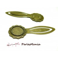 1 SUPPORT MARQUE PAGE ARTY 18 mm Bronze H3323 pour cabochon, DIY