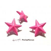 Lot de 10 clous à griffes en étoile Rose 16mm pour customisation, DIY