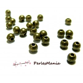 200 perles PE006Y intercalaires rondes 3mm Bronze, DIY