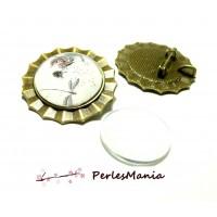 2 pièces: 1 pendentif broche multi fonction Soleil ART DECO ref 221 BRONZE et 1 cab