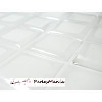 PAX 100 cabochons CARRE 12mm sticker autocollant epoxy transparent , DIY
