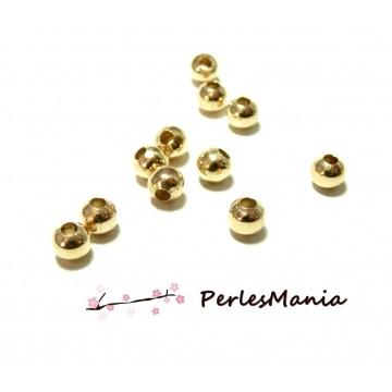 200 perles METAL intercalaires rondes lisse 6mm DORE CLAIR, DIY
