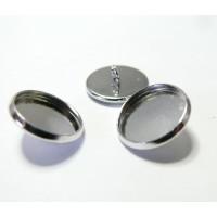 10 Supports de boutons à coudre 14mm pp