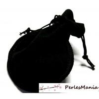 10 pochettes cadeaux velours BOURSE Noir ( 100 par 125mm )
