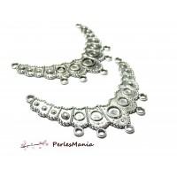 Accessoire bijoux: 10 grands multi connecteur Ethnique P366 Vieil argent