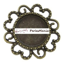 10 pendentifs CONNECTEUR ARTY FLEUR BRONZE ref241