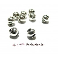 10 perles intercalaires passants Potiron 8.5mm ARGENT ANTIQUE H116031