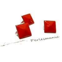 lot de 50 clous rivet 9mm rouge pyramide carré à 4 griffes