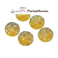 PAX 20 cabochons plat druzy, drusy ronds 12mm S1179019