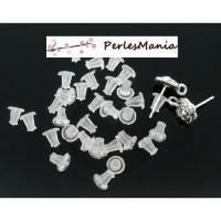 PAX: 1000 STOPPEURS EMBOUTS POUSSOIRS plastique transparents 5mm BOUCLES D'OREILLES PUCE S115755