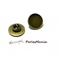 10 supports de broche PINS en 20mm BRONZE