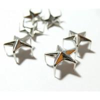 Lot de 10 clous à griffes en étoile platine 12mm pour customisation
