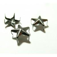 Lot de 10 clous à griffes en étoile platine noire 12mm