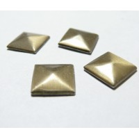 lot de 10 clous thermocollant de 12 mm forme pyramide Bronze