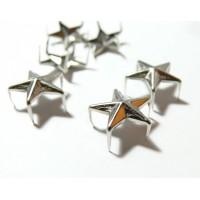 Lot de 10 clous à griffes en étoile platine 9mm pour customisation