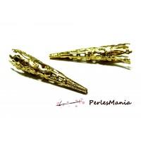PAX 60 calottes cônes coupelles embouts filigranés DORE S11759
