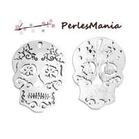 PAX 10 pendentifs CRANE SQUELETTE ARTY ARGENT PLATINE S1184785