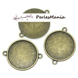 PAX 30 Supports de PENDENTIF CONNECTEUR Qualité EXTRA 14mm BRONZE S112244