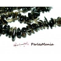 10 perles NUGGETS QUARTZ FUME