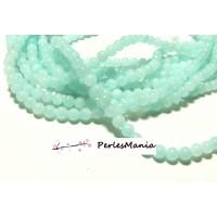 1 fil d'environ 95 perles JADE BLEU CLAIR 4mm couleur Y04