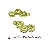 4 pendentifs, breloque RUCHE ORIGAMI DORE ( S1181380 )