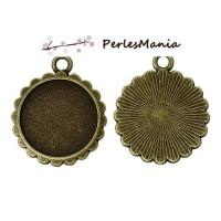 PAX: 50 Supports de pendentif CUPCAKES 16mm metal couleur BRONZE S1142230