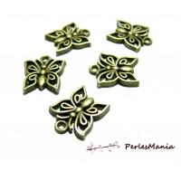 10 pendentifs breloques papillons ajourés ref222 metal couleur BRONZE
