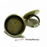 1 piece imposante bague ronde 20mm ref 27555 Bronze anneau normal