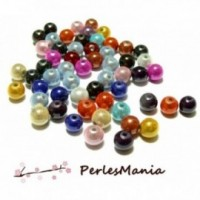 PAX 50 PERLES ILLUSIONS MAGIQUES MIRACLE MULTICOLORES 8mm H119284