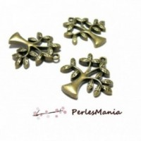 perlesmania.com Pax 20 Breloques pendentifs Ancre Bronze H1184