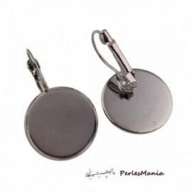 PAX 50 Boucles d'oreille dormeuse Qualité Ronde 18mm metal couleur GUN 1711301732241GU