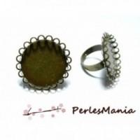 PAX 10 bagues double vague qualité 25mm metal couleur Bronze materiel pour création de bijoux 140701184815