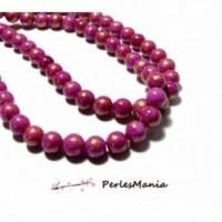 1 fil d'environ 90 perles Jade Mashan Rose Fuschia mordoré 4mm H23201B