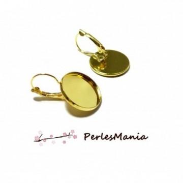 PAX 20 pièces boucle d'oreille Dormeuse Qualité 18mm metal couleur Or 121228164318G