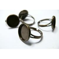 2 supports de bague bronze 14mm