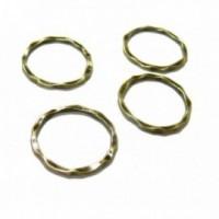 H1117B PAX 25 pendentifs grand anneau connecteur fermé rond Martele 22mm couleur Bronze