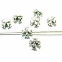 PS11103640 PAX 25 perles plates intercalaire Croix de malte métal couleur Argent Antique