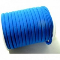 H11318 Lot de 2 mètres élastique 5 par 3 mm Bleu pour création collier, headband...