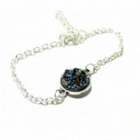 Bracelet Druzy Bleu Irisé