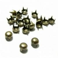 PAX 100 clous rivet Rond et Plat 5mm rond à 4 griffes Couleur Bronze