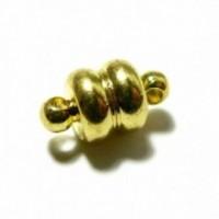 PS110115653 PAX 5 Sets de petits Fermoirs Magnetiques Rondelles métal couleur Doré