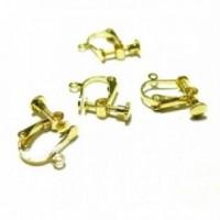 180728151658 PAX 10 supports de Boucles d'oreille à Vis couleur Dore avec attache qualité Laiton