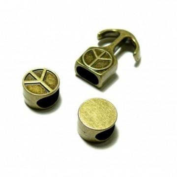 H116628 PAX 10 sets fermoirs CROCHET Ancre Marin metal couleur Bronze