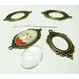 20 pièces:10 pendentifs cadre vintage ref A18835 et 10 cab